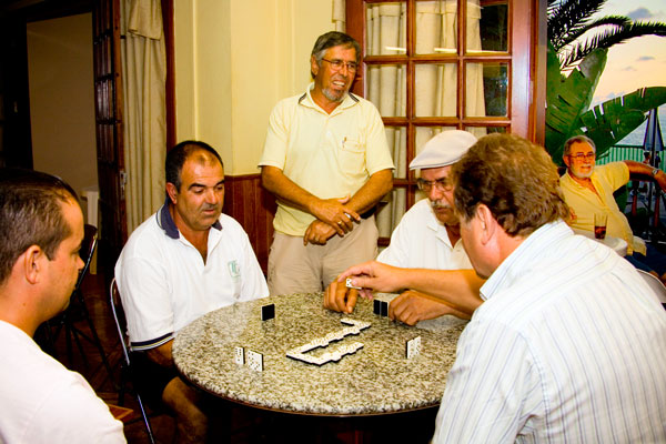 Domino players in Tenerife