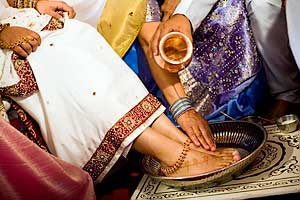 Hindu foot washing ritual
