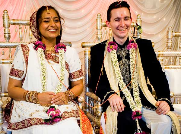 Hindu Bride with her Bridegroom
