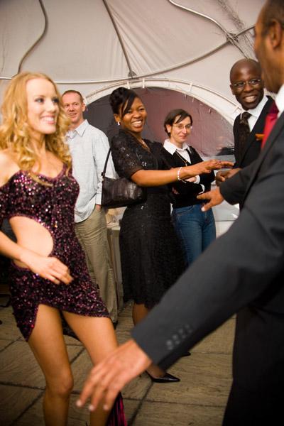 "Jorge and ""Kylie"" dance Salsa"