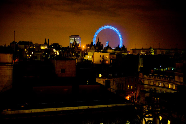 View over London at Night