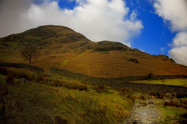 Landscape in Lake District Glenridding