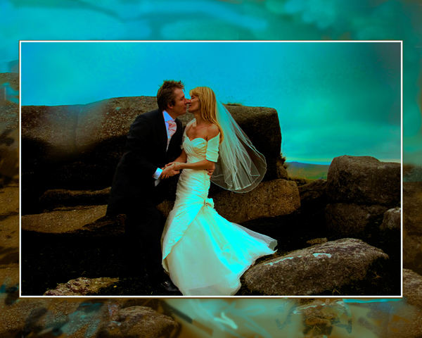 Moody Mists on Dartmoor wedding photograph