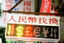 colourful Chinese neon signs in Hong Kong
