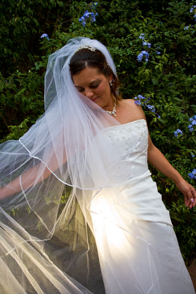 bride with veil at Kaesler Wines Barossa Valley Australia
