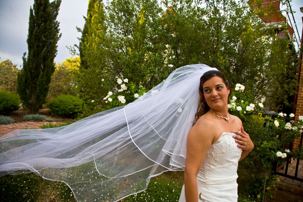 bridal portrait at Kaesler Wines in Barossa Valley Australia