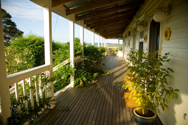 Aire Valley guest House veranda off the Great Ocean Road, by Otway National ParkVictoria Australia