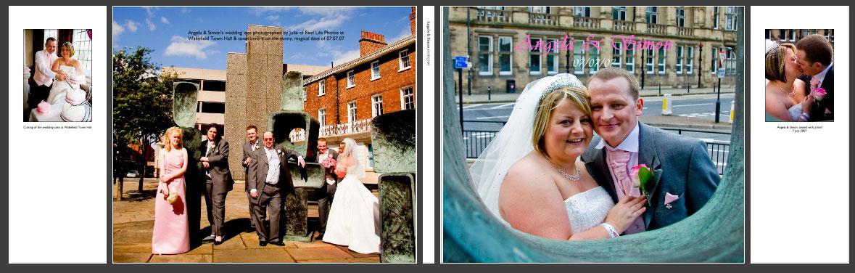 cover of wedding story book album