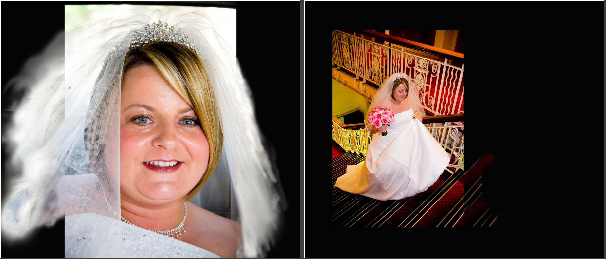 page 10 of wedding storybook album by Reel Life Photos