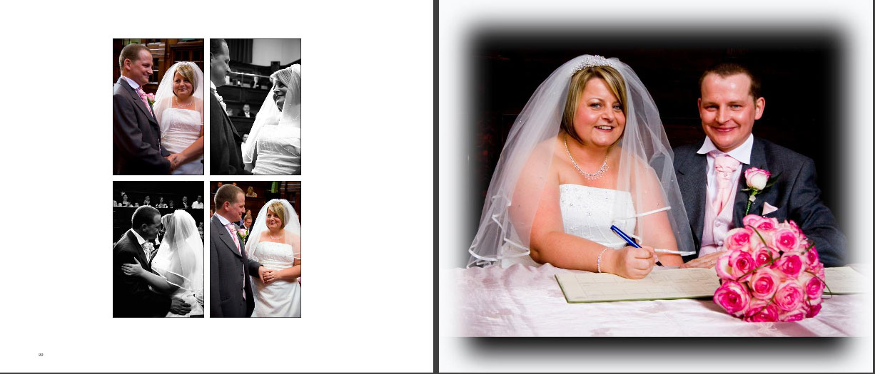 page 11 of wedding storybook album by Reel Life Photos