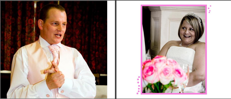 wedding story book photos - speeches