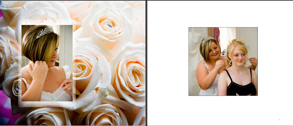 page3 of wedding storybook album by Reel Life Photos