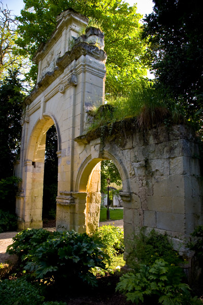 Majestic Arched Gateway in Chateau de Tilly