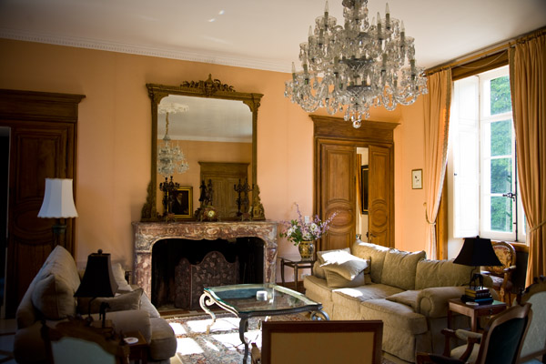 grand reception room at Chateau de Tilly Loire valley France
