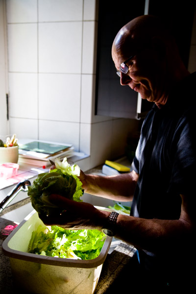 French Chef Jean-Pierre prepares the food for the Chateau wedding