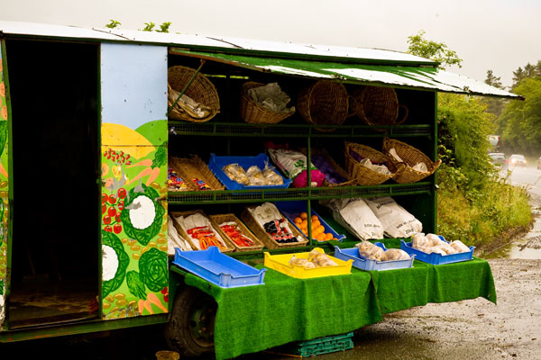 Irish roadside friut and veg stall