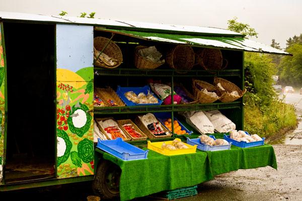 Irish roadside friut and veg stall