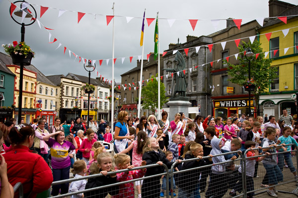 Strawberry Festival in Enniscorthy, County Wexford, Southern Ireland