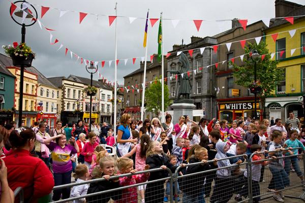 Strawberry Festival in Enniscorthy, County Wexford, Southern Ireland