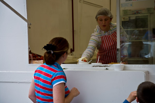 Strawberry stall at Strawberry Festival in Enniscorthy
