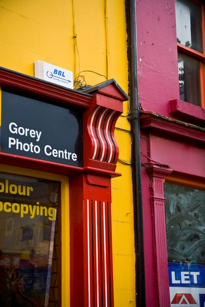 colourful shops in Gorey Southern Ireland