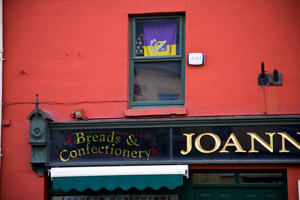Joanne - shop painted Red in Gorey