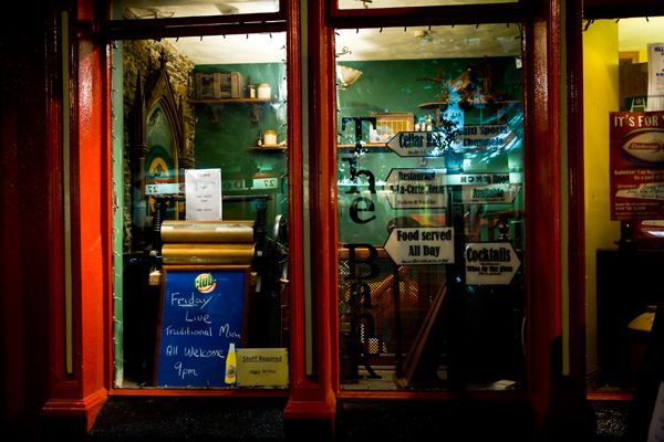 The Bank - bar & restaurant in Gorey - at night