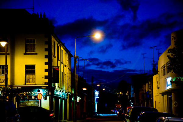 Blue Sky in Gorey at night