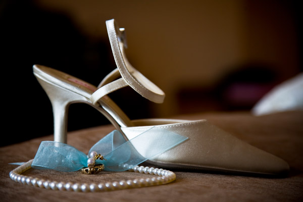 wedding shoe and jewellery