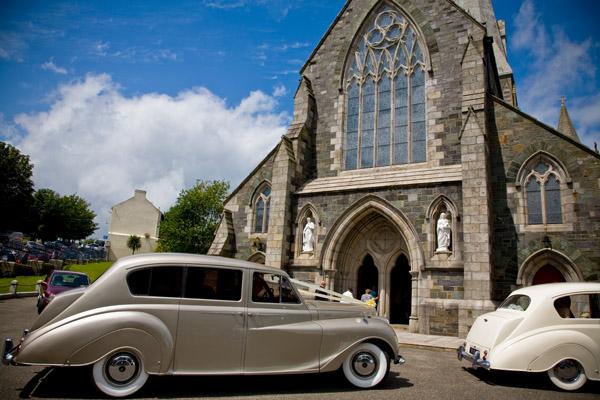 wedding cars outside Enniscorthy cathedral