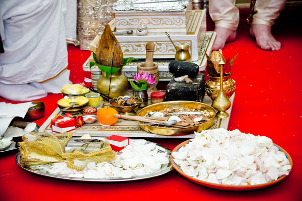 detail of Hindu wedding ceremony
