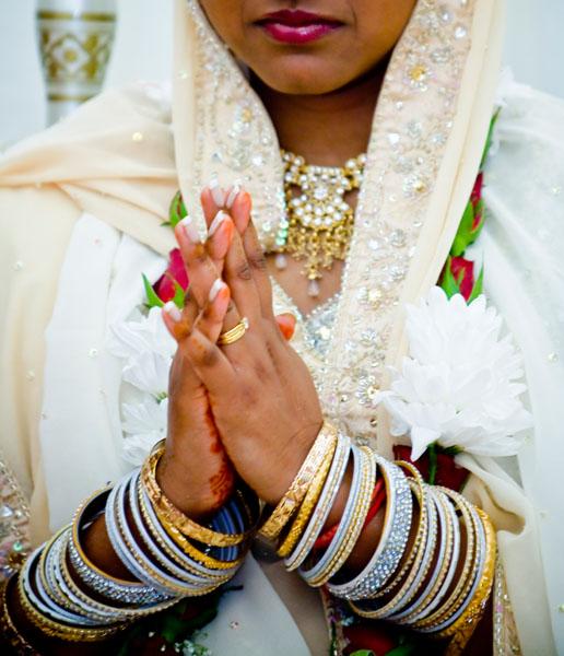 Hindu Bride's hands