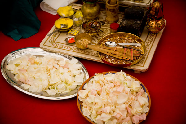 ingredients for the Hindu Priest to use in the wedding ceremony