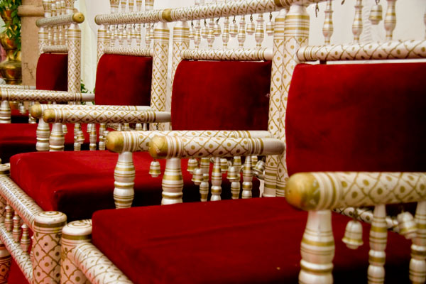 traditional Asian wedding chairs