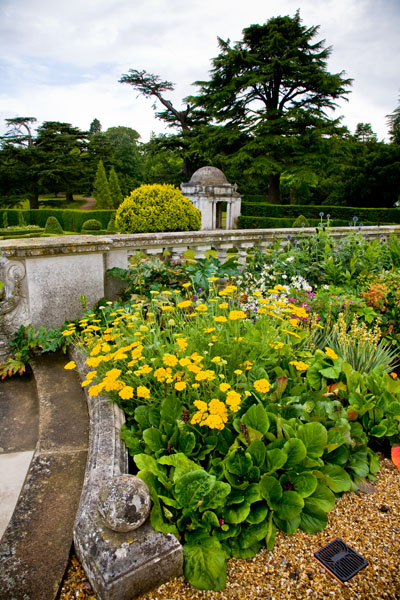 Luton Hoo gardens on a rainy day