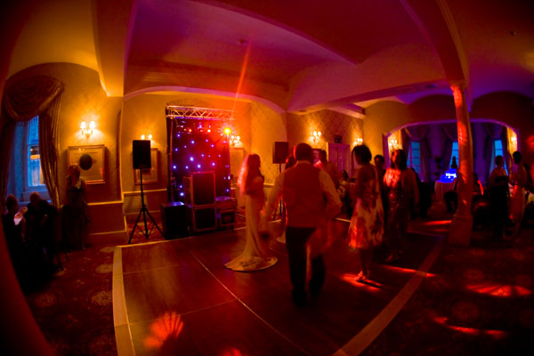 picture of dancing at evening wedding reception Luton Hoo