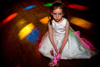 child at wedding evening reception on the dance floor