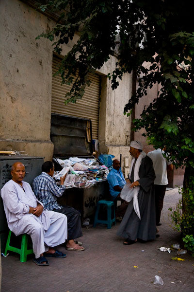 local Egyptians in downtown Cairo