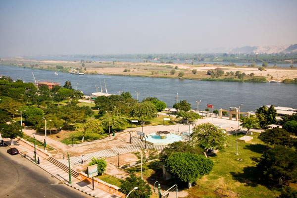 picture of River Nile from King Akhenaton Hotel El Minya Egypt