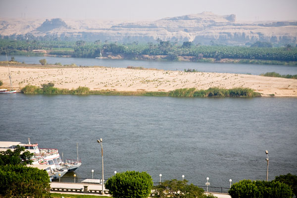pic of River Nile from King Akhenaton Hotel El Minya Egypt