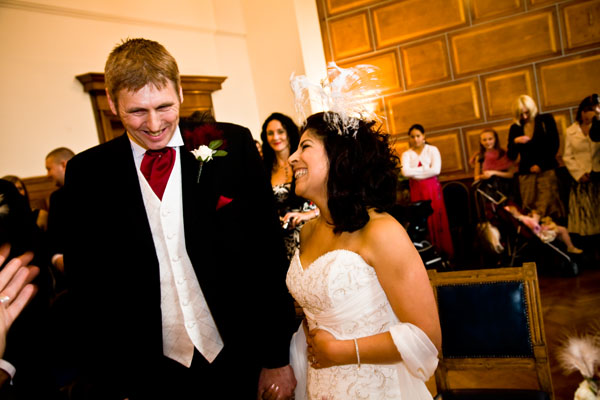 Wedding vows at Sale Register Office