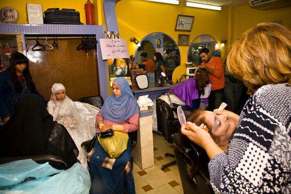 wedding hairdressers shop in El Minya Egypt