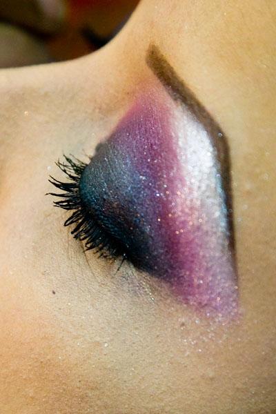 Egyptian style wedding fashion eye make-up