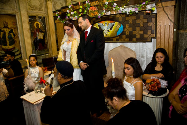 Christian Orthodox wedding ceremony in Egypt