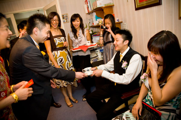Chinese Tea Ceremony to introduce Bridegroom to Bride's family