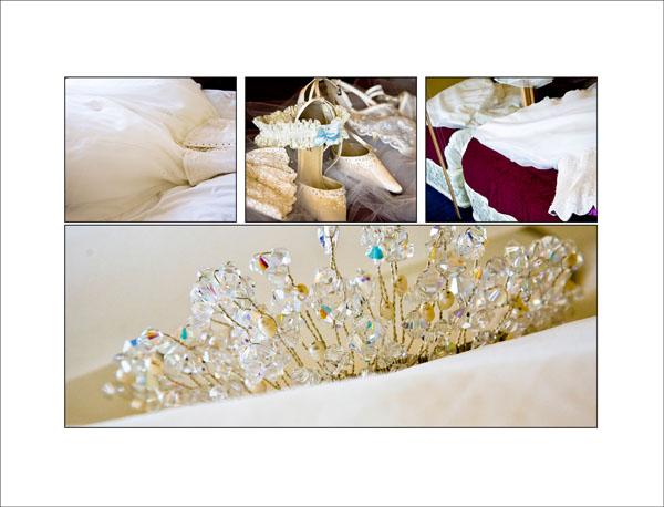 details of bride's wedding accessories