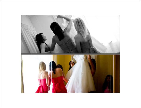 brideal prep - bridesmaids help bride get ready
