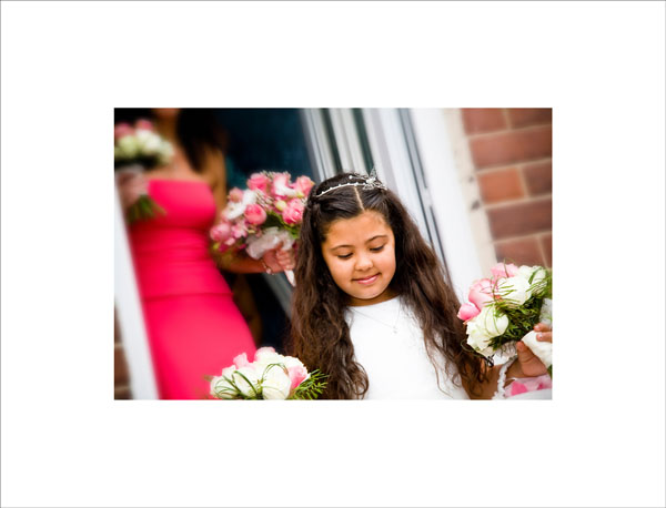 little bridesmaid with bouquets