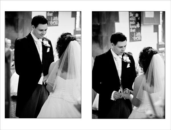 exchange of wedding rings in church