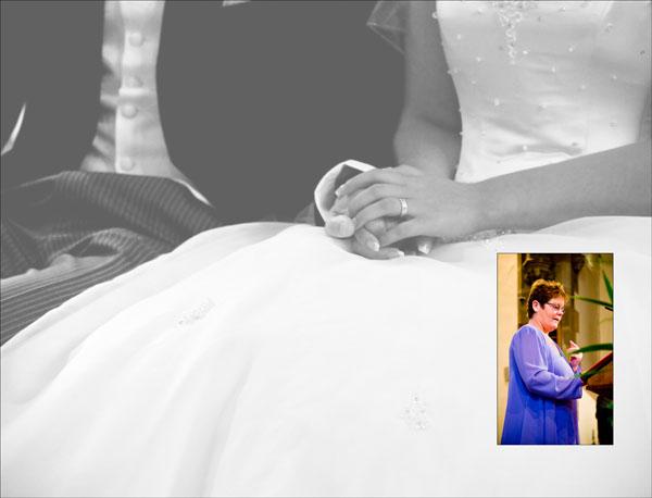page in church wedding storybook album